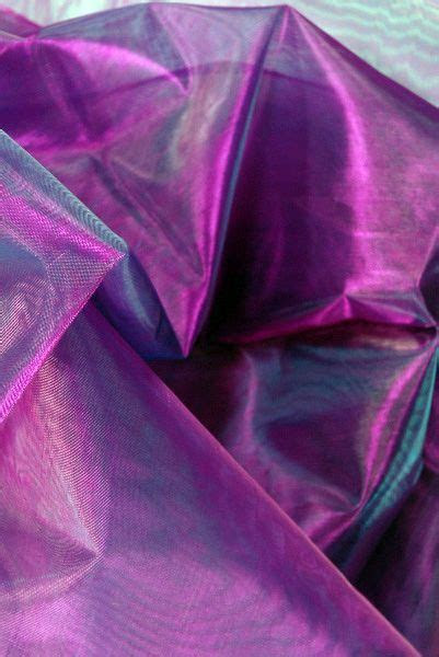 Sheer Iridescent Fabric Purple, Violet & Blue Organza (28
