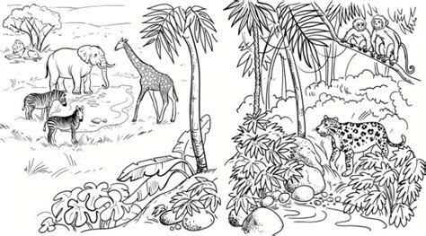 savanna coloring pages coloring page