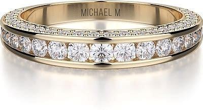 Michael M Channel Set Diamond Wedding Band R399B