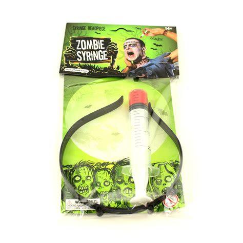 halloween zombie syringe headband scary fake gory bloody