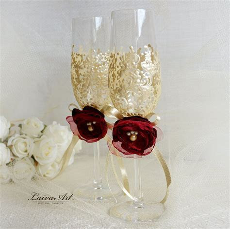 Wedding Champagne Glasses Wedding Champagne Flutes Ivory