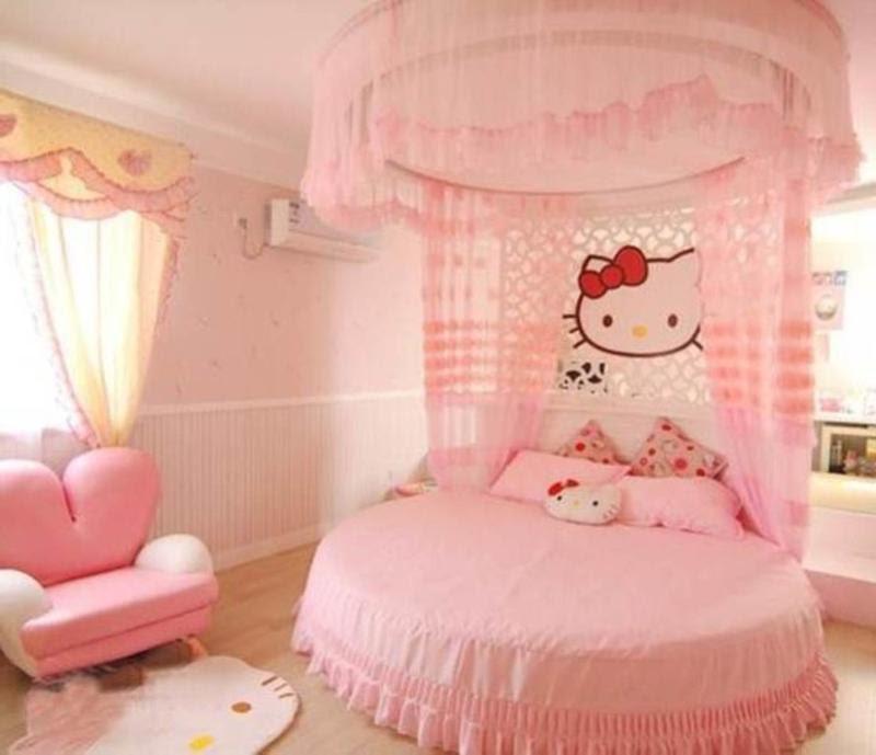 15 Adorable Hello Kitty Bedroom Ideas for Girls - Rilane