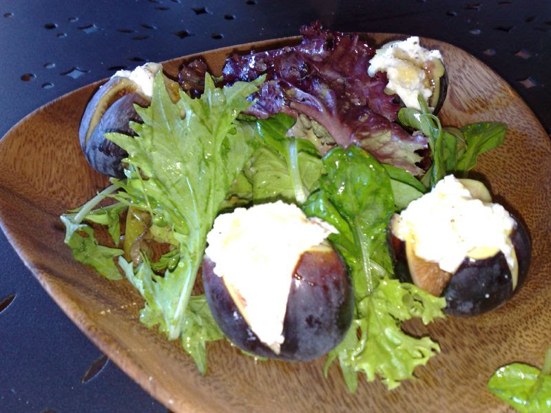 Mission Figs with Fresh Ricotta, Lavender and Honey