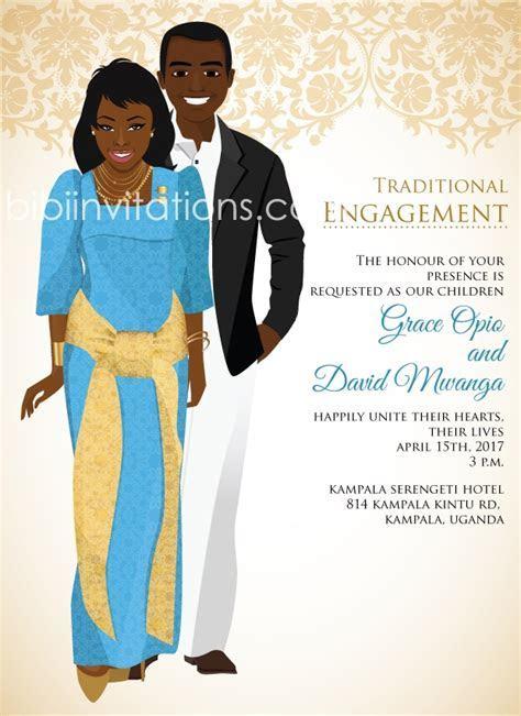 Ugandan Traditional wedding invitation Card