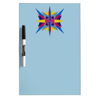 Dry Erase Board with Iconic Art Deco Star