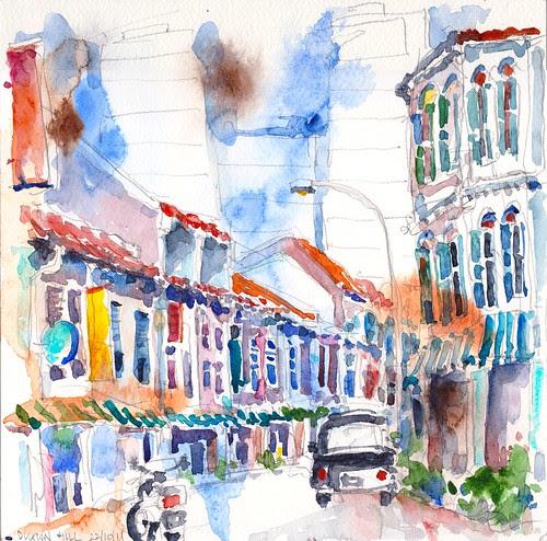 Duxton Hill Sketchwalk 22-10-2011