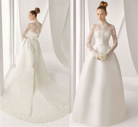 Vintage Lace Wedding Dresses with Long Sleeves ? Cherry Marry