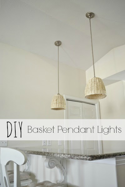 DIY Basket Pendant Lights - lizmarieblog.com
