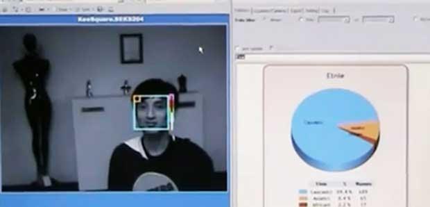 Imagem captada pela câmera no manequim é analisada por um programa especial (Foto: Almax)