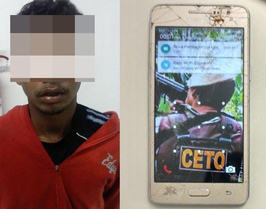 Adolescente de Santaluz foi apreendido após roubar celular em Serrinha   Foto: Notícias de Santaluz