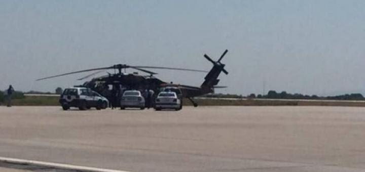 Турки сбежали вертолет