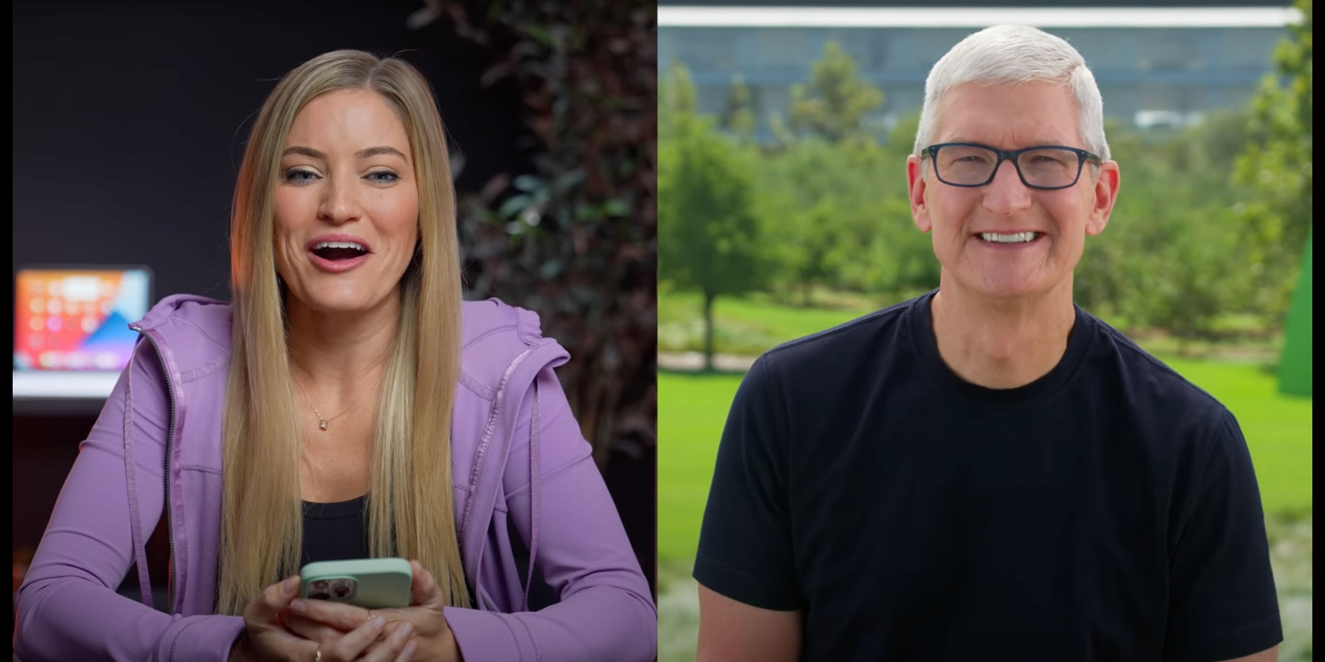 iJustine Tim Cook interview briefly covers virtual events, iPad mini, AR, stores