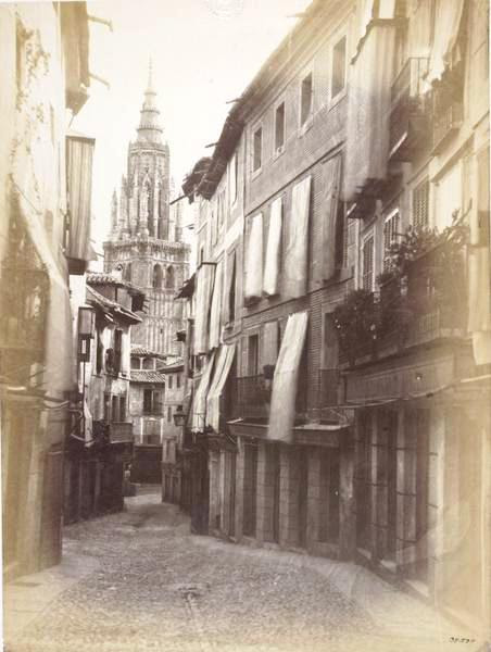 Catedral desde la Calle Ancha en 1859. Fotografía de Charles Clifford. © Victoria and Albert Museum, London