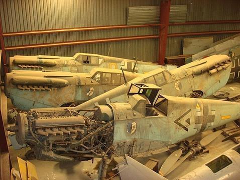 Venden en Texas cinco cazas nazis construidos bajo licencia en España durante la II Guerra Mundial