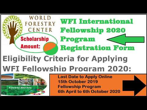 WFI International Fellowship 2020 Program Registration Form