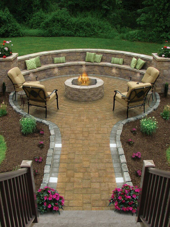 Back Yard Fire Pit Patio Ideas
