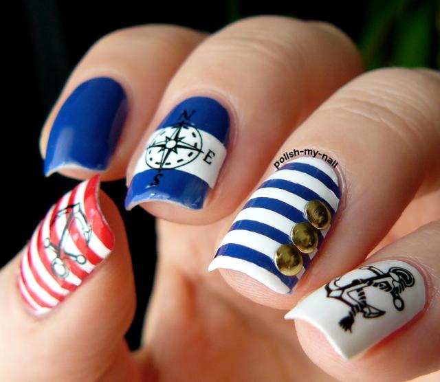 marine nail art  3