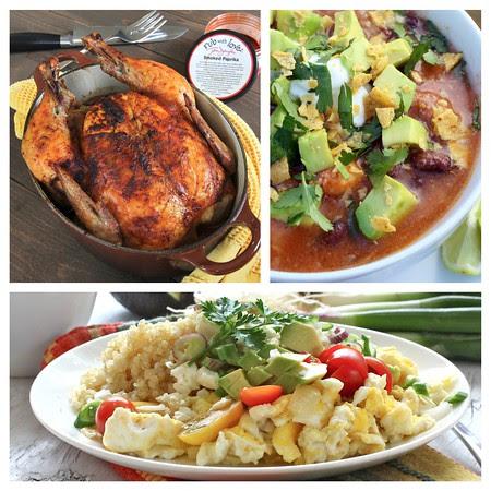 Smoked Paprika Chicken, Chicken Tortilla Soup, Eggs and Quinoa