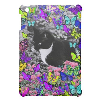 Freckles in Butterflies II - Tuxedo Cat iPad Mini Case