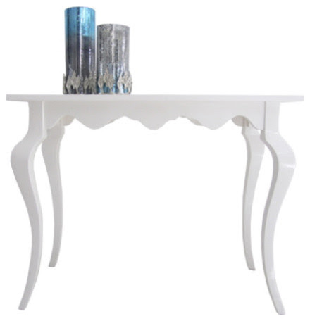 White High Gloss Console Table - modern - side tables and accent ...