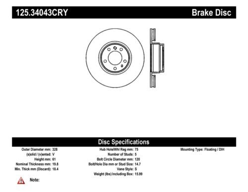Disc Brake Rotor fits 1994-1996 Pontiac Grand Prix  MFG NUMBER CATALOG