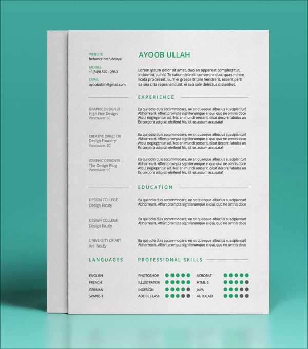 Indesign Resume Template 2018 from lh6.googleusercontent.com