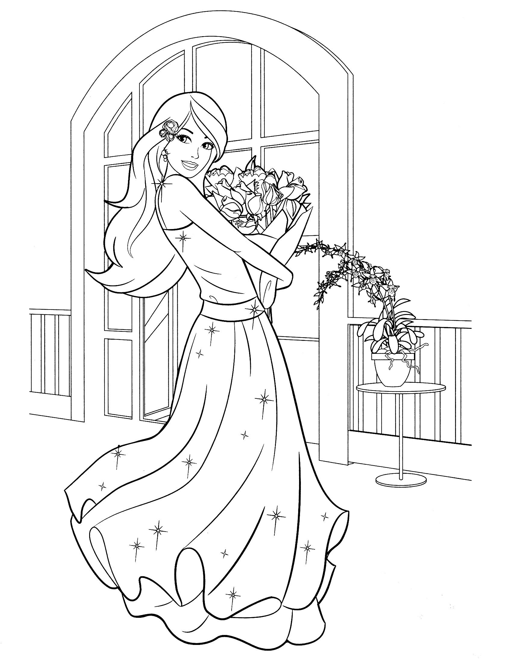 Barbie Birthday Coloring Pages at GetColorings.com   Free ...
