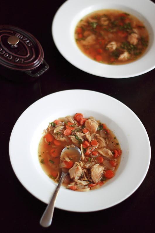 Beer braised cilantro chicken stew