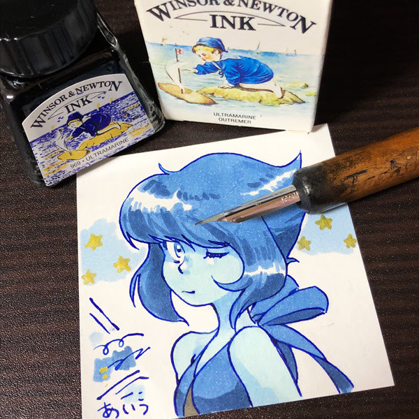 winsor&newton drawing ink / copic
