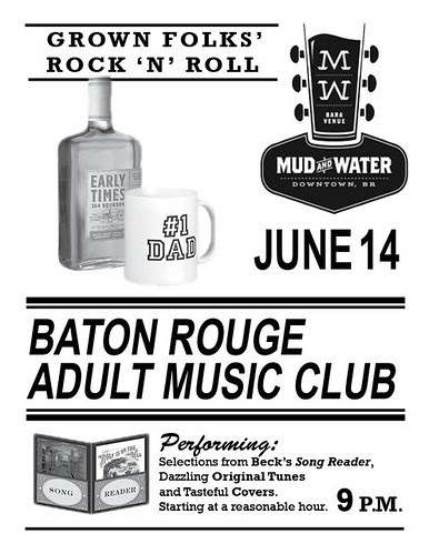 Baton Rouge Adult Music Club, June 14, Mud & Water