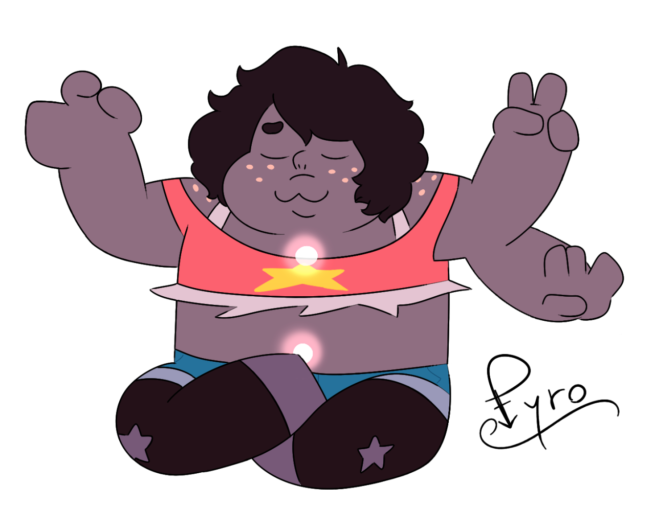 I was doing small versions of fusions for my desk decoration (yeah, I don't want to see this wood anymore), and I already did Smoky so~~~ @goopy-amethyst I hope you like them!!! (^ω^)/