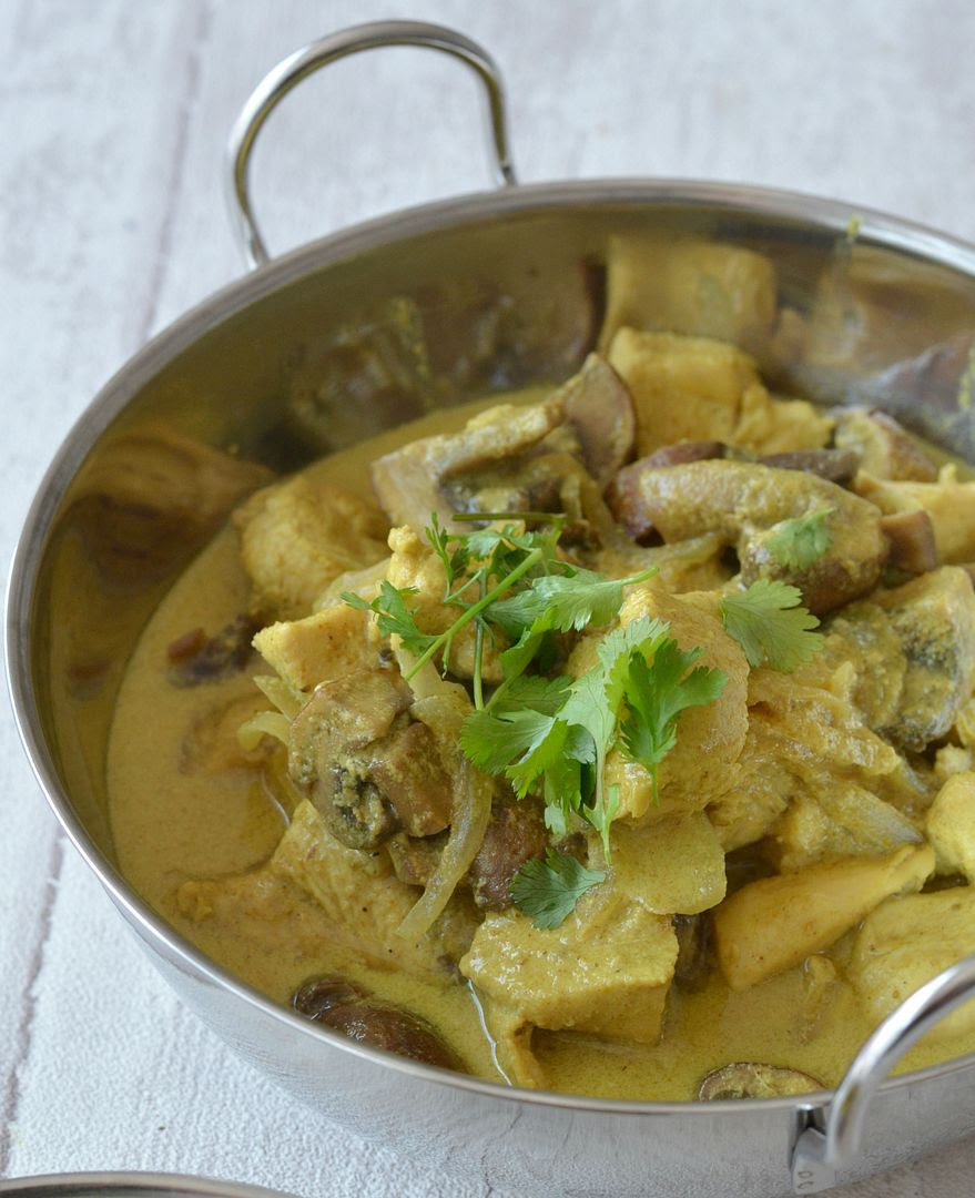 Chicken and Mushroom Korma