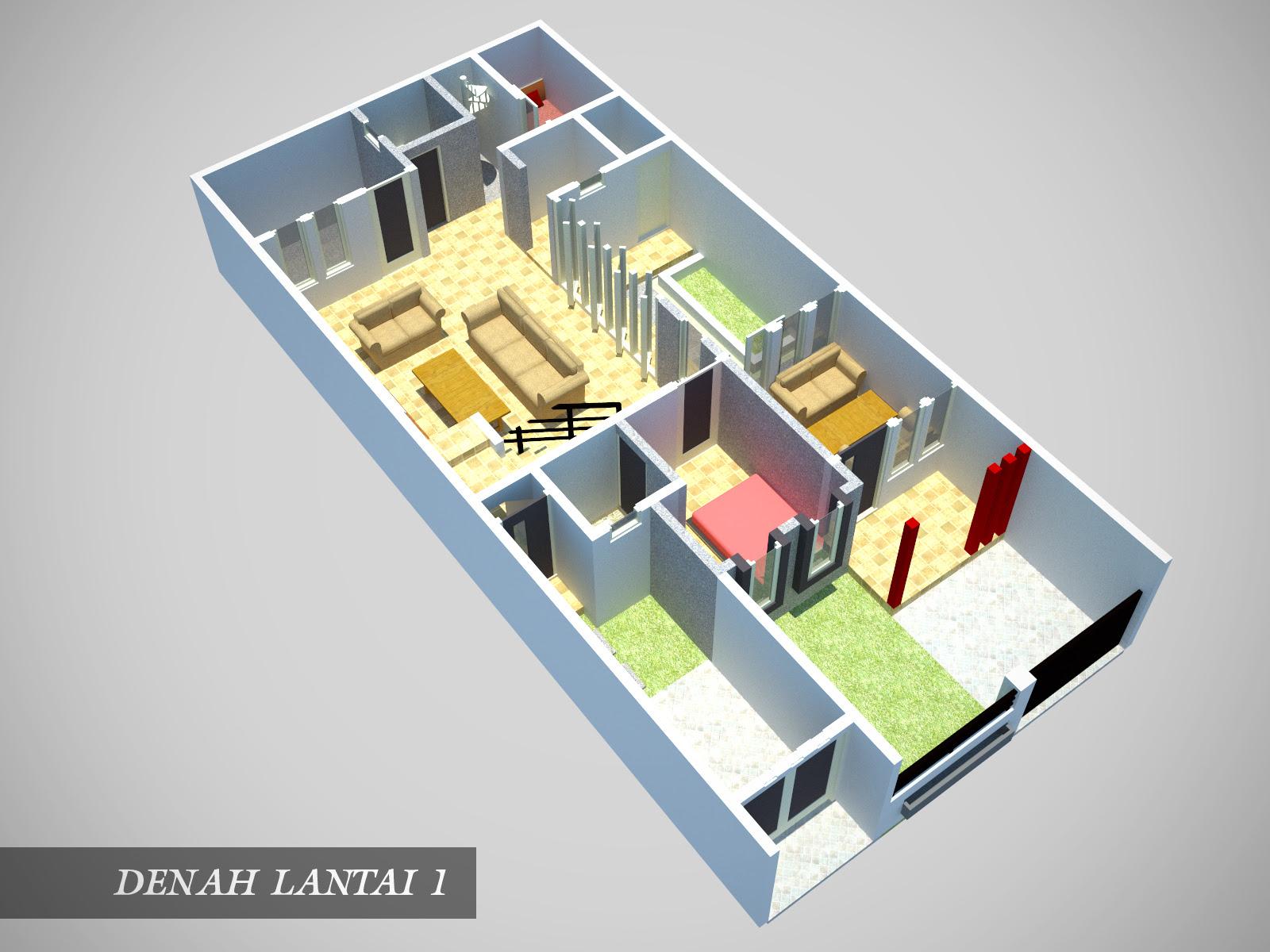 Desain Rumah Minimalis 7x15
