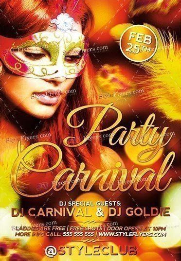 Carnival Party PSD Flyer Template #16846   Styleflyers