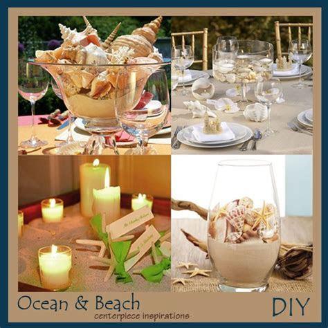 DIY Beach and Shells Wedding Centerpieces   Beach Wedding
