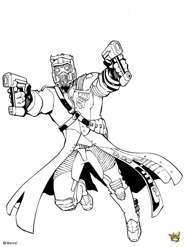 Star Lord Est Un Coloriage Des Gardiens De La Galaxie