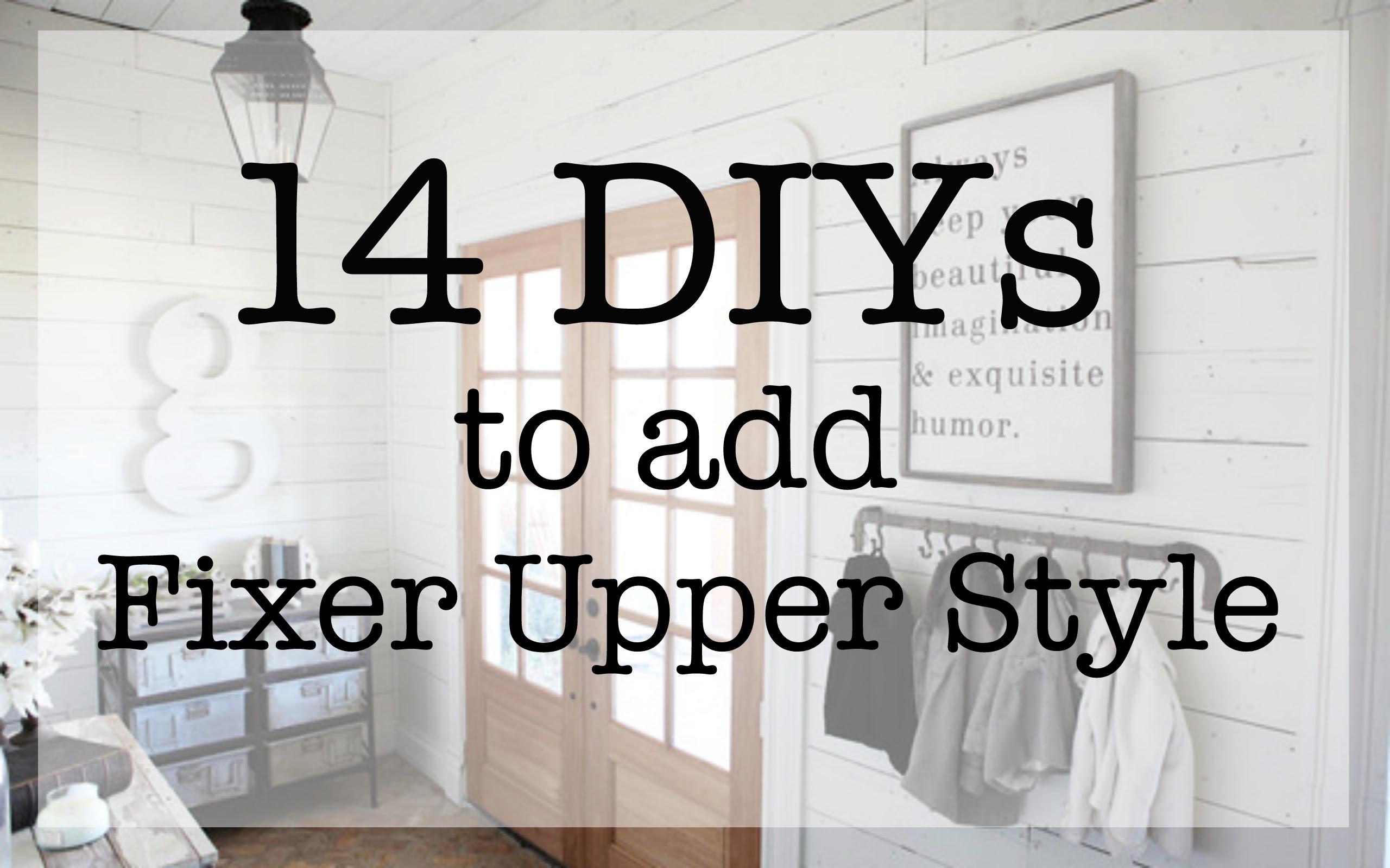 fixer upper style diys