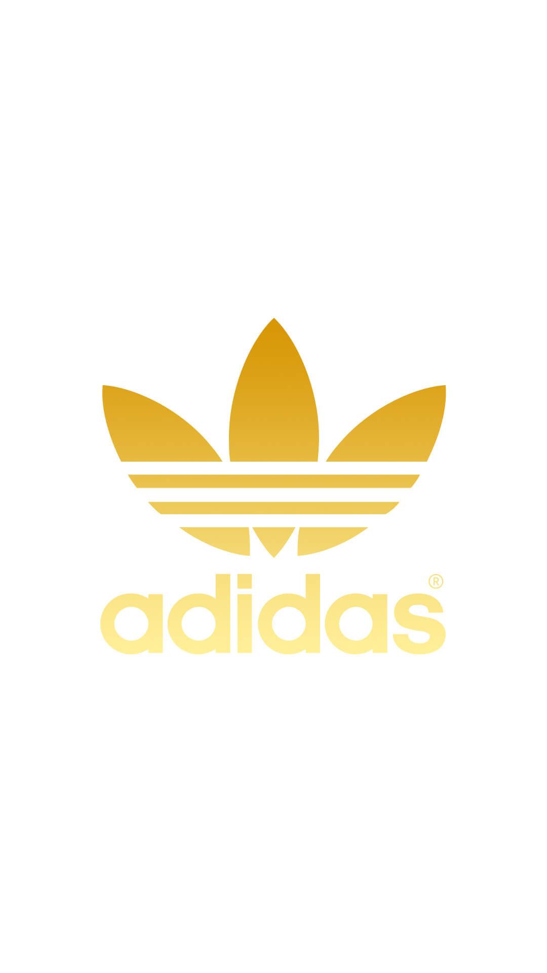 ゴールド アディダスロゴ Adidas Logo めちゃ人気 Iphone壁紙dj
