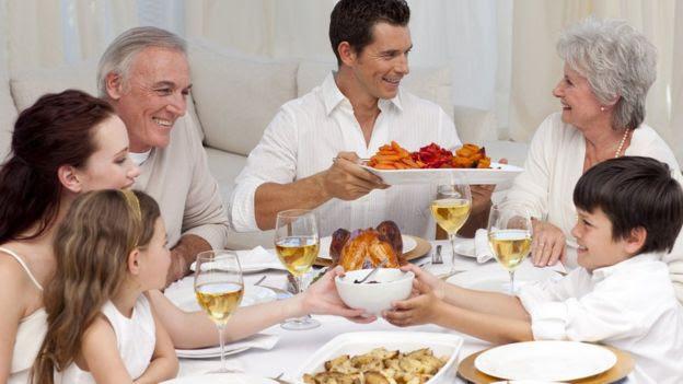 Família em refeição