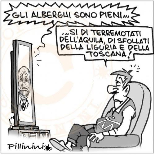 ristoranti pieni emergenza genova e1320488354331 Berlusconi e i ristoranti pieni (vignetta)