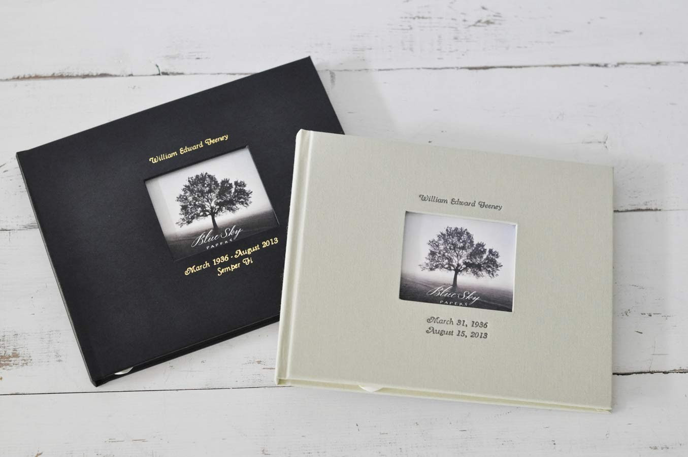 Guest Book With Photo Frame Cover An Archival Keepsake By Blue