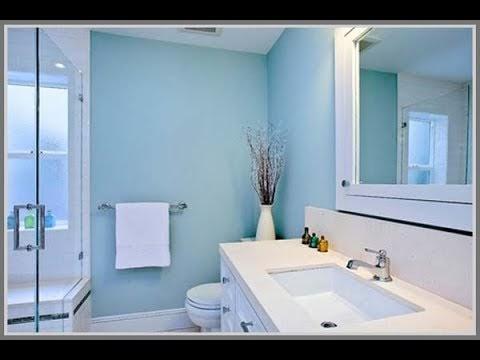 ide warna kamar mandi biru muda mewah dan elegan rumah