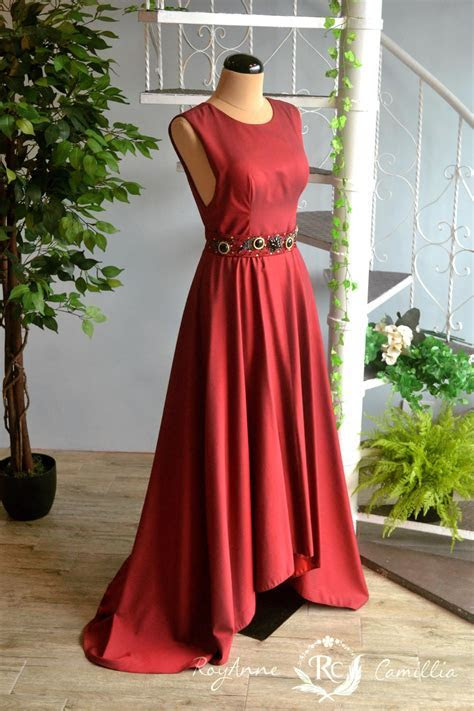 Cerys (maroon)   RoyAnne Camillia Couture  Bridal Gowns