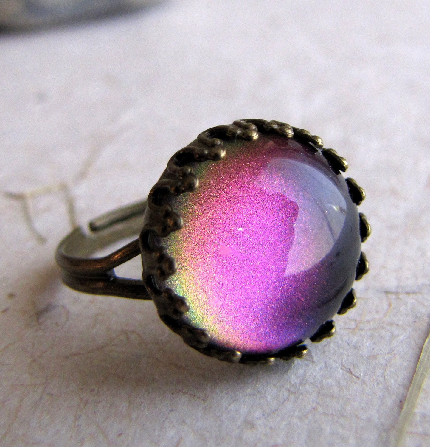 Rainbow Mirage Petite Crown Ring