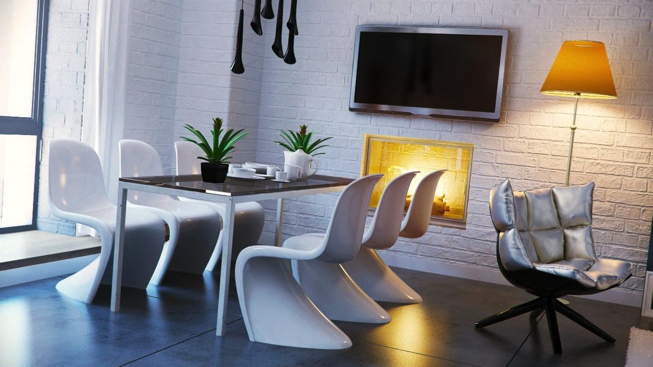 Black White Yellow Dining Roominterior Design Ideas
