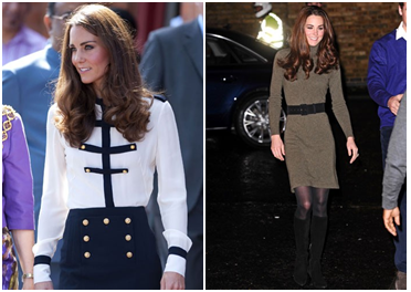 Kate Middleton Hair - Kate in sailor shirt, Kate in grey