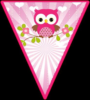 Kit Imprimible Candy Bar Buhos Tiernos Nena Para Cumpleaños Candy
