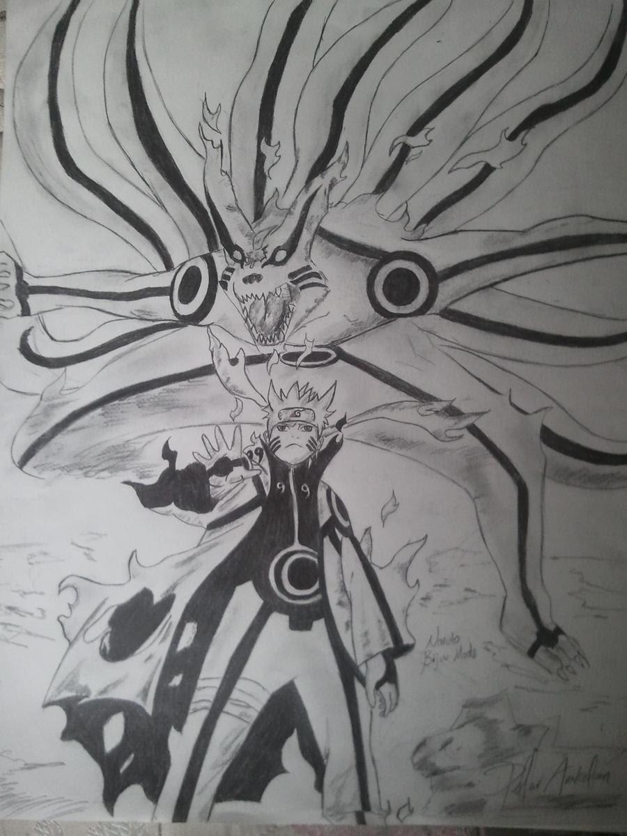 10 Ide Sketsa Gambar Naruto Dan Kurama Tasya Schuh