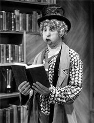 Harpo and his trademark Googie face