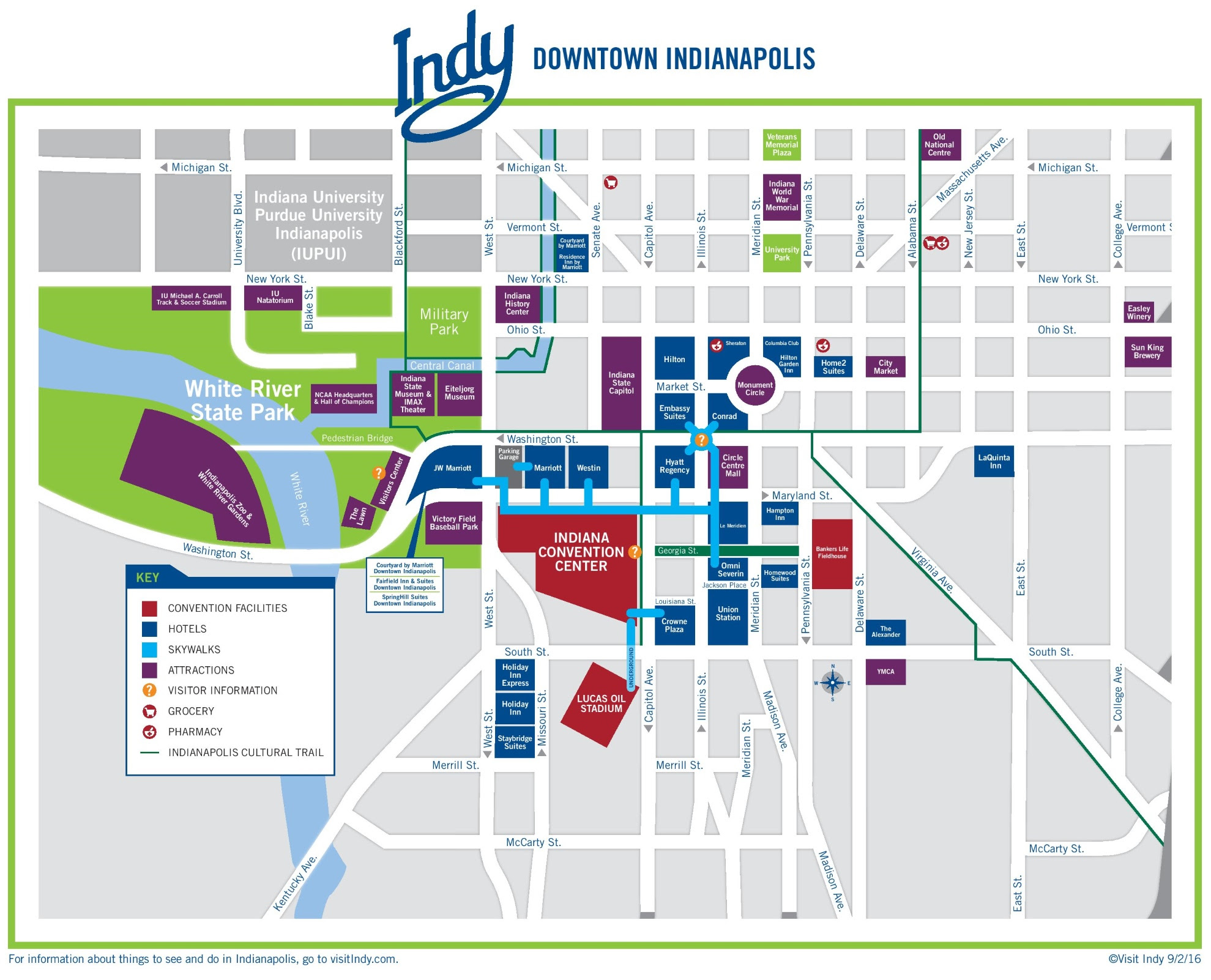 indianapolis downtown map